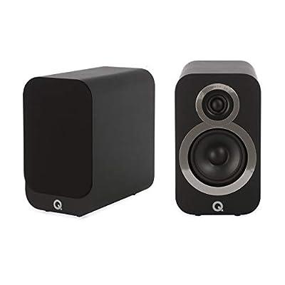 Q Acoustics 3010i Compact Bookshelf Speakers (Pair) (Carbon Black) (Refurbished) by Q Acoustics
