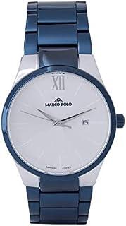 ساعة رجالي فاخرة ومميزة، لون أزرق داكن.
