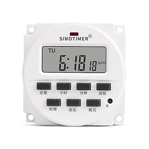 GYAM Temporizador automático de Agua para jardín LCD Digital eléctrico 12V-220V Control de relé programable Temporizador de riego Sistema de Control de riego
