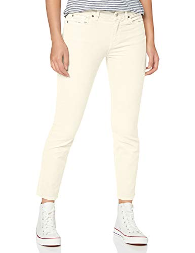 7 For All Mankind Womens Slim Jeans, Ecru, 24