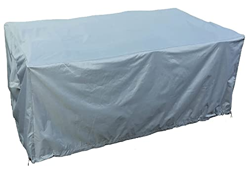 Kingsbridge Rectangular Garden Patio Furniture Table Cover Waterproof-600D Heavy Duty Fabric-Double Stitching-UV Protection-Breathable Outdoor Furniture Cover 170x100x75cm