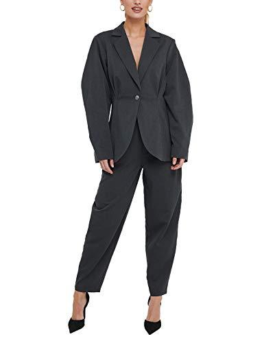 NA-KD Damen Anzughose Cocoon Form Gr. M, dunkelgrau