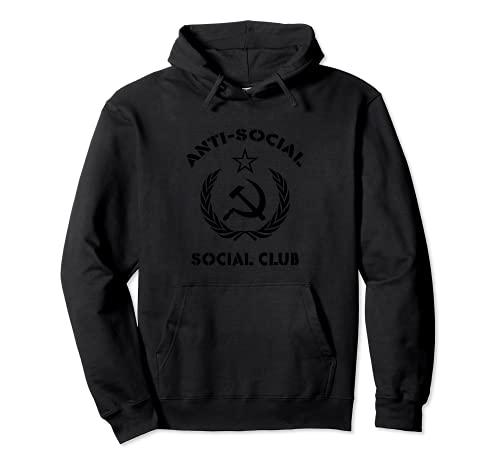 anti social social club felpa Anti-Social Club Russian USSR Soviet Union CCCP Communist Felpa con Cappuccio