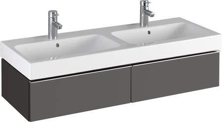 Keramag iCon Waschtischunterschrank 1190 x 240 x 477 mm, für Doppelwaschtisch Korpus/Front: Lava matt