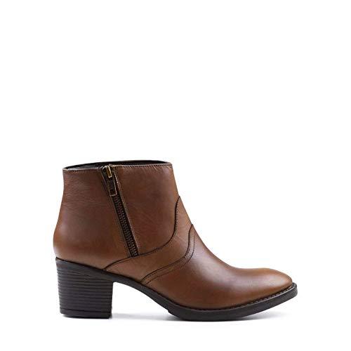 Redfoot Damen Bräunen Heeled Zip Boot - 41 EU