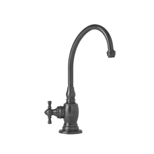 Waterstone 1250C-AP Hampton Filtration Faucet Cold Only with Single Cross Handle, Antique Pewter