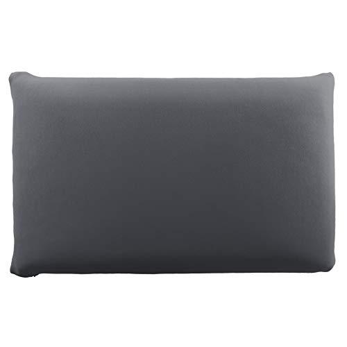 Edda Lux - Funda para almohada (72 x 42 cm, 70 x 42 cm, en muchos colores, 100% algodón, con cremallera), color grafito