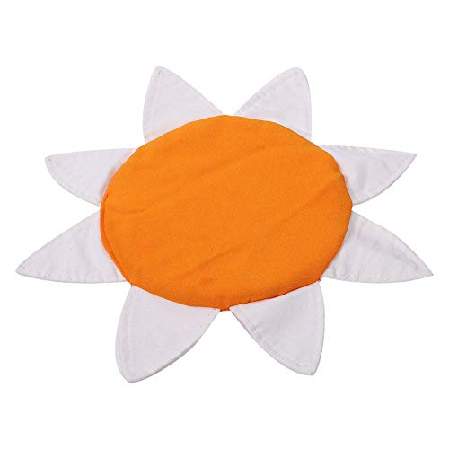 Vliegende schijf, zacht kinderspeelgoed Vliegende schijf Kinderen frisbees Buitentraining Sport Buitenspellen voor strand, achtertuin, park(oranje & wit)