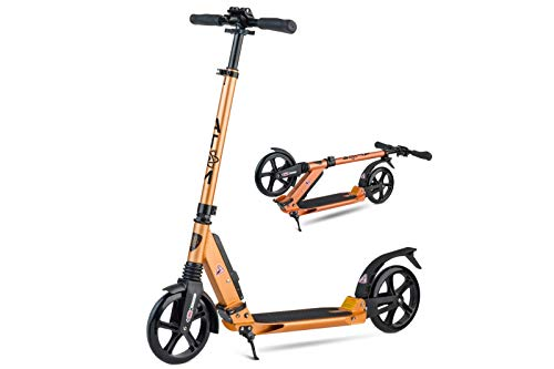 Atom Adult's Kick/Push Scooter   Foldable Frame   2-Wheels & Dual Suspension   City Commuter