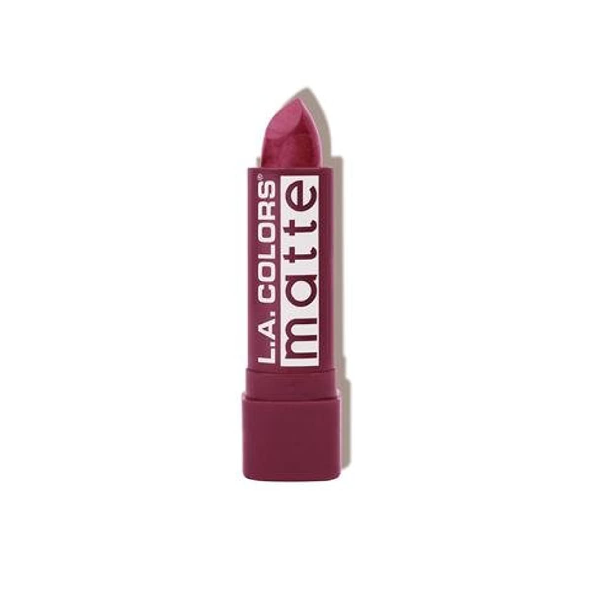 海岸人差し指深さ(6 Pack) L.A. COLORS Matte Lip Color - Purple Passion (並行輸入品)