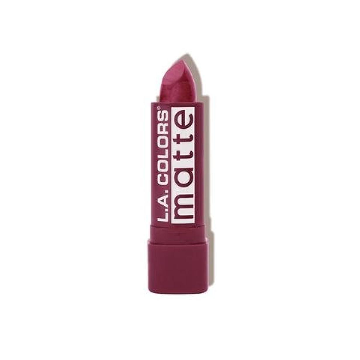 パラシュート九時四十五分あいまいさ(3 Pack) L.A. COLORS Matte Lip Color - Purple Passion (並行輸入品)