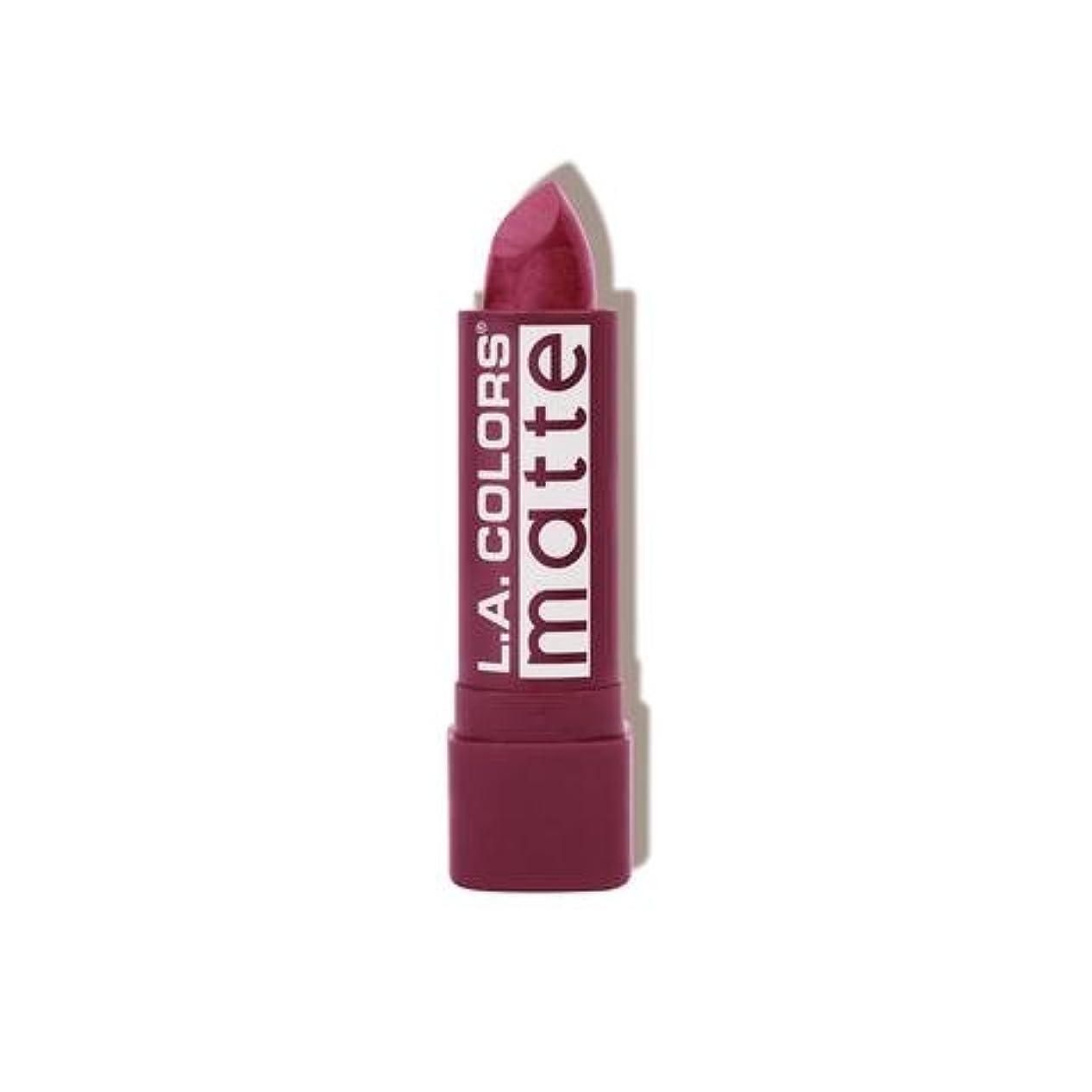 放射能イライラする手つかずの(6 Pack) L.A. COLORS Matte Lip Color - Purple Passion (並行輸入品)
