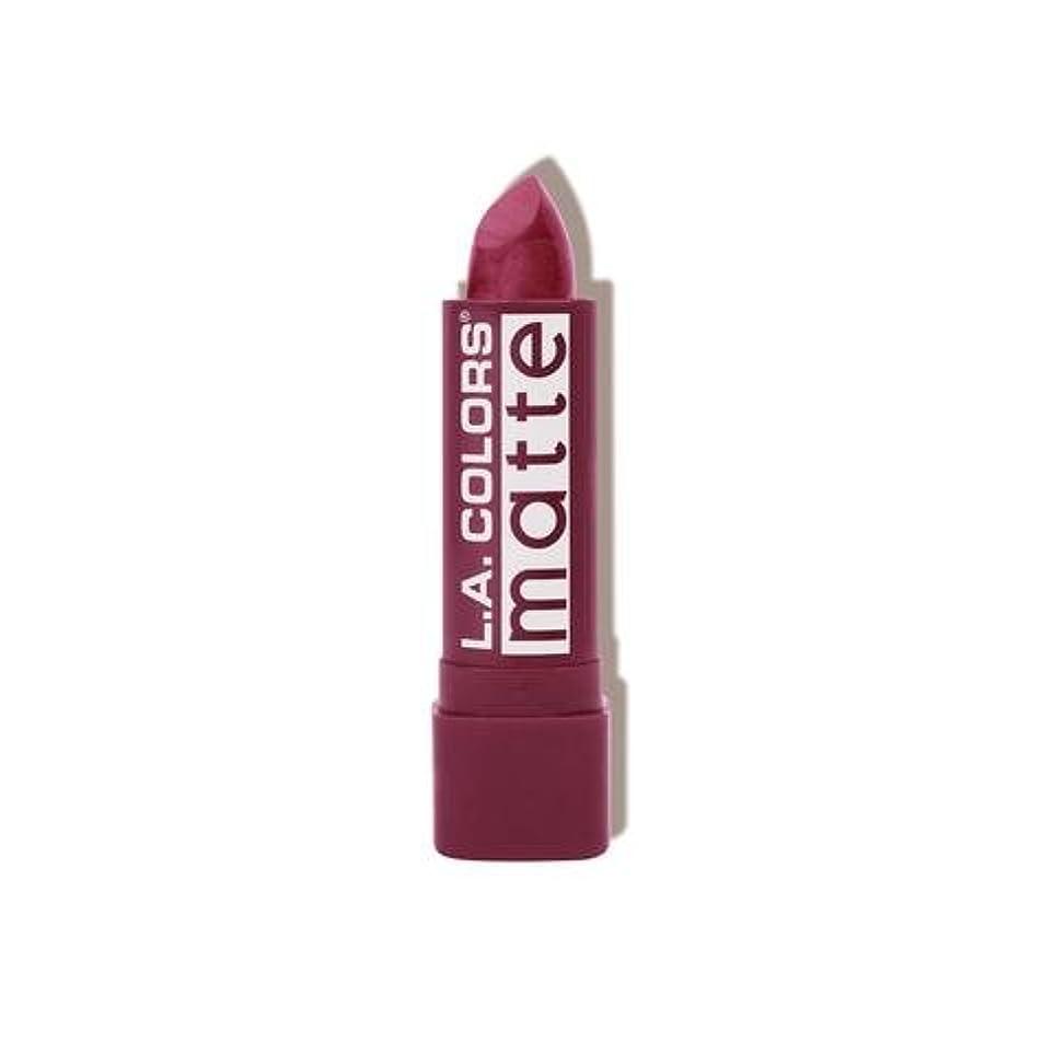 失う和らげる義務(6 Pack) L.A. COLORS Matte Lip Color - Purple Passion (並行輸入品)