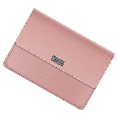 OSALADI 1 conjunto de bolsa de transporte para laptop de couro PU capa para notebook Ultrabook, capa de viagem para homens e mulheres, rosa 13/14 polegadas
