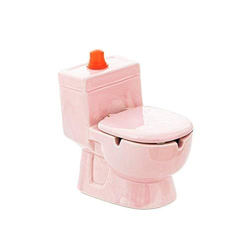 THMY Cenicero de cerámica, Resistente al Viento con Tapa, Caja de Almacenamiento de pulverización de Agua de Inodoro de Gran Capacidad, Maceta para Plantas suculentas (Rosa)