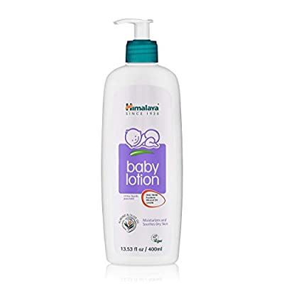 Himalaya Baby Lotion with Olive Oil and Almond Oil, Free from Parabens, Mineral Oil & Lanolin, Dermatologist Tested, 13.53 oz (400 ml) by Himalaya Herbal Healthcare