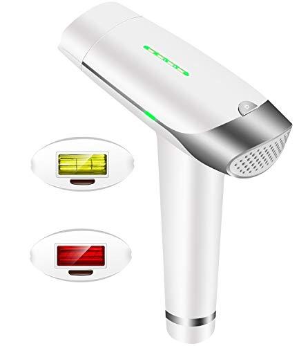Auratrio T-009 IPL 450.000 Lichtimpulsen Dauerhafte Haarentfernung, 5 Intensitätsstufen, Damen und Männer, Gesicht, Körper, Intimbereich, mit Lichtschutzbrille