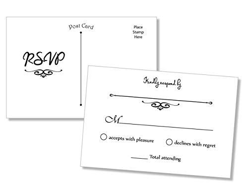 50 RSVP Postcards