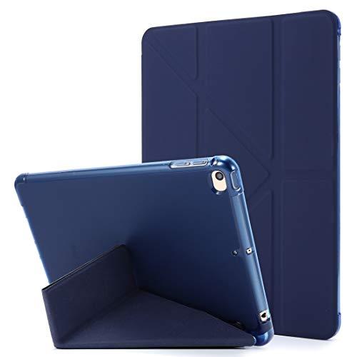GUODONG Tablet PC Case for iPad Mini (2019) Deformación de airbag Funda de Cuero Horizontal Flip con Titular y Titular de la Pluma Tablet contraportada (Color : Dark Blue)