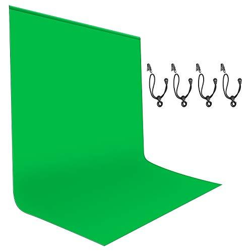Neewer 1.8x2.8M grüner Hintergrund, Fotografie Hintergrund, grüner Chromakey Hintergrund für Foto Video Studio Filmfernsehen, 4 Hintergrund Klammern enthalten