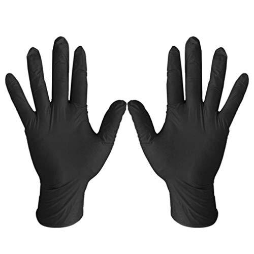 QIFENYEDENG 100 Stück Verschleißfestigkeit Nitril Einweghandschuhe , Lebensmittel Medizinische Tests Haushaltsreinigung Waschhandschuhe , Antistatische Handschuhe , tragbar und langlebig , m