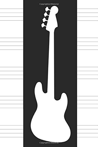 Bass Guitar Tab Book: Bass Tablature Book for Bassists to Write Bass Lines 120 Pages (Bass Guitar Tab Notebook)