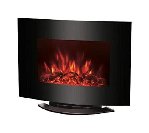 Ohmex OHM-HET-4555 – Chimenea de pared con efecto negociable – 1000 / 2000 W – Pantalla LED – Función de arranque adaptable – 2 opciones de ajuste del calor – Con dispositivo de seguridad
