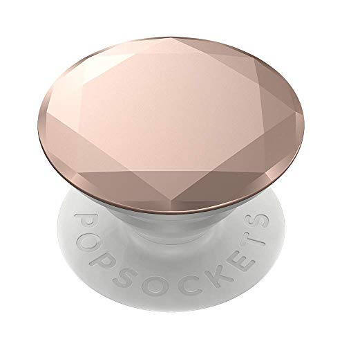 PopSockets PopGrip - Expanding Stand and Grip with Swappable Top - Metallic Diamond Rose Gold
