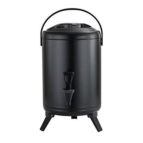 Isolierter Getränkespender aus Edelstahl, isoliert, für heiße und kalte Getränke, für heißen Tee und Kaffee, kalte Milch, Wasser, Saft, Suppe (8 Liter)