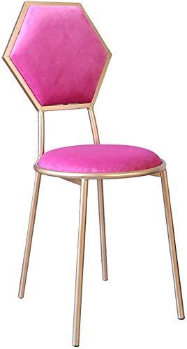 Decoratieve bank Scandinavische stijl barkruk, creatieve thuis-ijzeren kunst kledingwinkel eerste rij hoge bank kledingwinkel doek kunst ligstoel make-up computer stoel manicure shop 48 cm, ijzer 6 6
