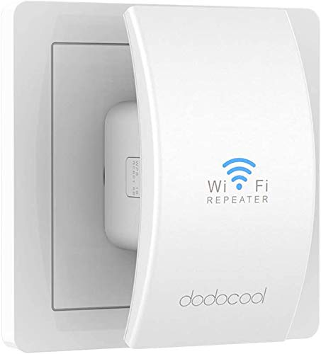 Ripetitore WiFi Wireless, dodocool N300 Wifi Extender, 2.4GHz Ripetitore Segnale WiFi, Modalità AP/Ripetitore, Porta LAN, Crittografia Sicurezza Wireless, Compatibile con Modem Fibra e ADSL, Portatile