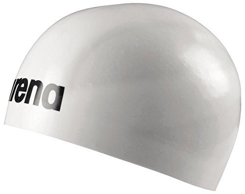 arena Unisex Wettkampf Badekappe 3D Ultra (Vorgeformt, Eng, Optimale Kompression, Stabiler Sitz), White-Black (15), L