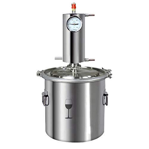 XIONGGG Cobre Rojo Moonshine Still, Destilador De Alcohol, Caldera De Elaboración Casera De Vino Casero para Whisky, Brandy De Vino, 12L / 20L / 35L / 60L,35L