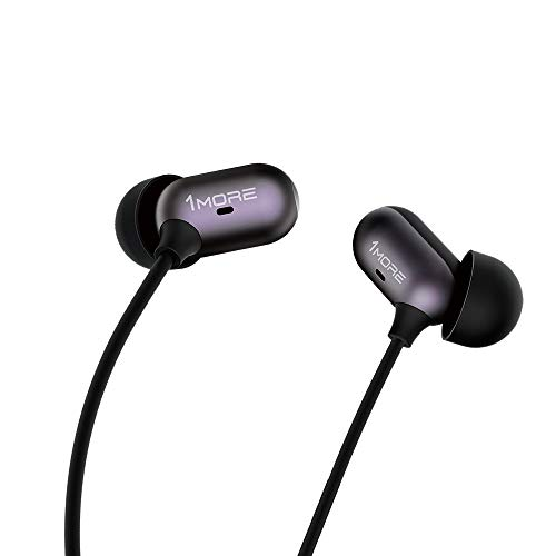 1MORE Capsule Dual Driver In-Ear Earphones Comfortable Headphones with Hi-Res Sound, Noise Isolation, Snug Fit, Magnetic, Microphone and Remote Control for Smartphones/PC/Tablet - Black (C1002)
