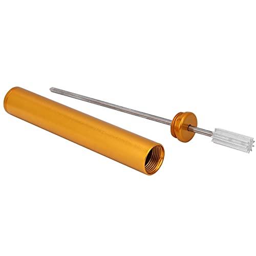 Multifuncional colorido aleación rodillo de cuero rodillo pluma borde aceite pluma cuero artesanía (oro 6 #)