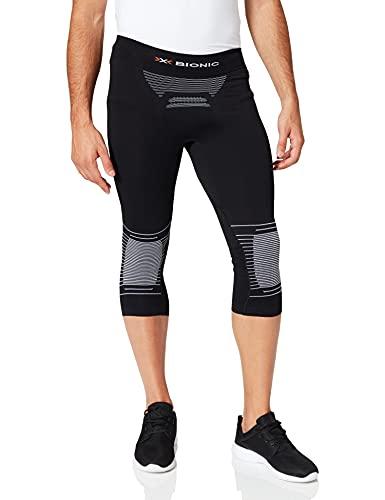 X-Bionic Energizer 4.0 3/4, Strato Base Pantaloni Funzionali Uomo, Opal Black/Arctic White, M