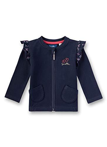 Sanetta Baby-Mädchen Sweatjacket Sweatshirt, Blau (Nordic Blue 5962), 62 (Herstellergröße: 062)
