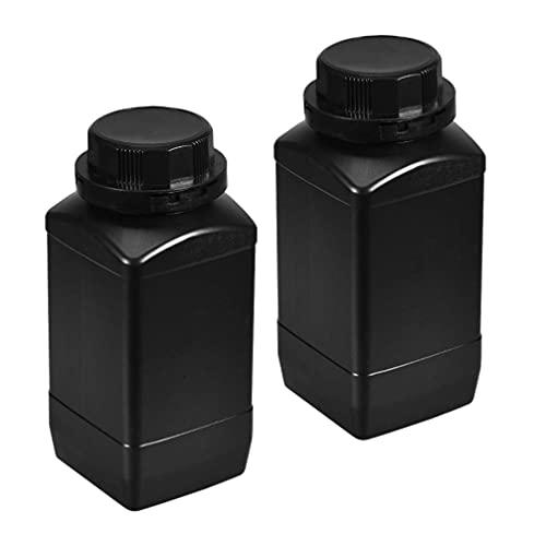 iplusmile Botella Plástica del Reactivo de 2 Piezas Botella Química Vacía 1000Ml Botella Sólida del Sellado de La Muestra del Envase de La Píldora de La Medicina del Polvo
