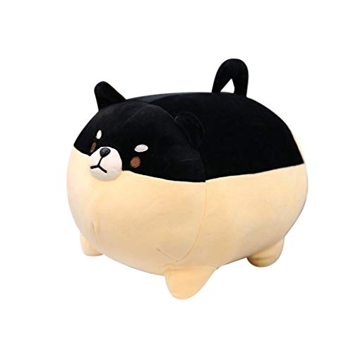 66toys Stuffed Animal Shiba Inu Plush Doll, Soft Pillow Dog Baby Play Toy Nursery Bed Sofa Chair Decoration, Best Valentine Christmas Birthday Gifts for Family Friends Kids (Black)