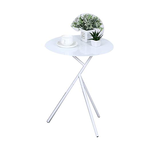 SZQ-Table Basse Balcon métal Table, résistance créative haute température Tripod Table Flower Shop Café Salle de bal Fer Table 45 * 56.5CM Table de sofa (Color : White, Size : 45 * 56.5CM)