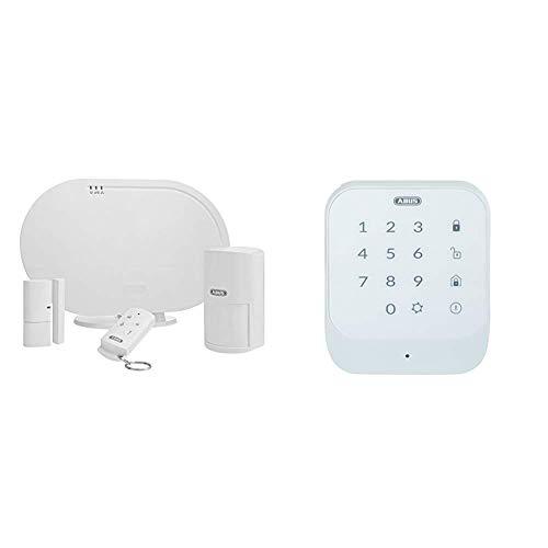 ABUS Funk-Alarmanlage Smartvest Basis-Set Einbruchmeldeanlage inkl. Bewegungsmelder & Öffnungsmelder - Testsieger - weiß & Funk-Tastatur Smartvest zur De- und Aktivierung der Funk-Alarmanlage | weiß