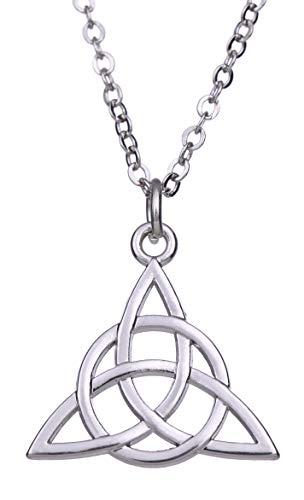 fishhook Celtic Style Triquetra Trinity Pendant Amulet Talisman for Eternal Love Necklace
