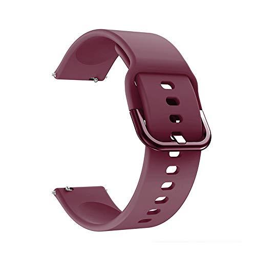Nishore Pulseira de silicone substituível pulseira de relógio de 22 mm compatível com Galaxy relógio Active2 vermelho
