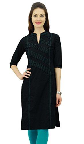 Phagun Damen Baumwolle Straight Pintex Kurta Kurti Casual Sommer Indische Ethnische Tunika Top
