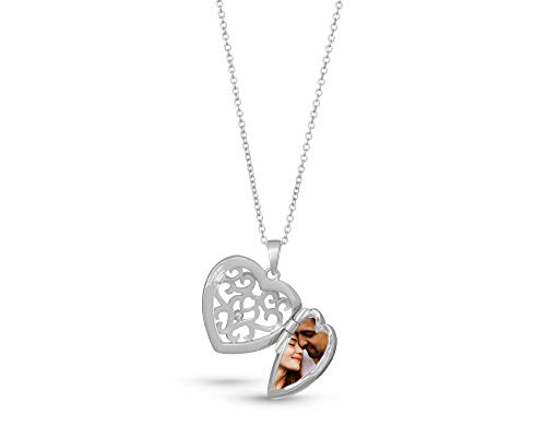With You Lockets-Fine Sterling Silver-Custom Photo Locket Necklace-That Holds Pictures for Women-The Helen