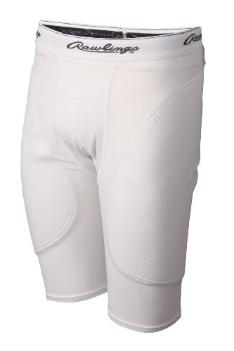 Rawlings Men's Sliding Short, White, X-Large