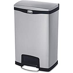 Rubbermaid Commercial Slim Jim Front Step-On Trash Can