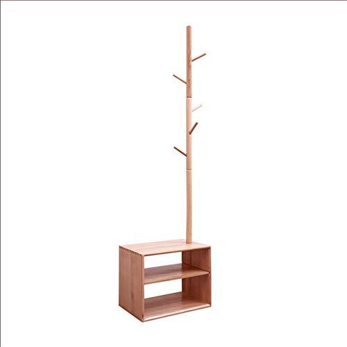 KEDUODUO Garderobe, Bodenaufhänger, Nachttisch, Massivholzregal, Schuhwechselhocker an der Tür, Aufhänger, Schlafzimmer Startseite,Logs