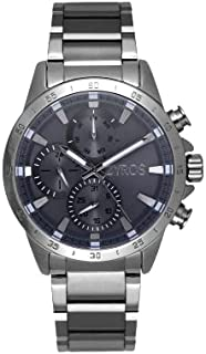 ZYROS Men's Silver Steel Watch with Wide Entry