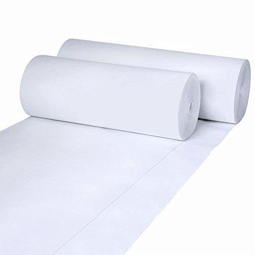 Teppiche Und Teppiche Einmalige Weiße Rote Hochzeit Event Celebration Polypropylen Dicke Von 2 Mm, Lang 10m / 20m / 30m (Farbe : Weiß, größe : 1.5 * 20m)
